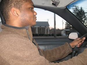 Reuben driving me