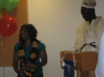 Receiving the Kente